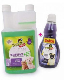 Kit Desinfetante Power Pets 1l E Eliminador Lavanda 500ml